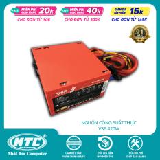 Nguồn công suất thực dành cho máy tính Vision VSP ATX 420W – Fan 12cm chống ồn (nhiều màu) – Hãng phân phối chính thức