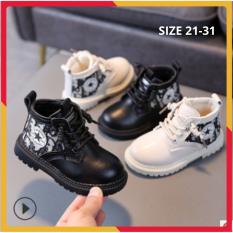 Boot Bé Trai Cổ Cao Da Mềm Cao Cấp Size 21-31