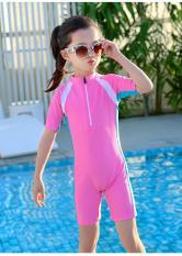 Đồ bơi liền thân bé gái hồng xin xắn