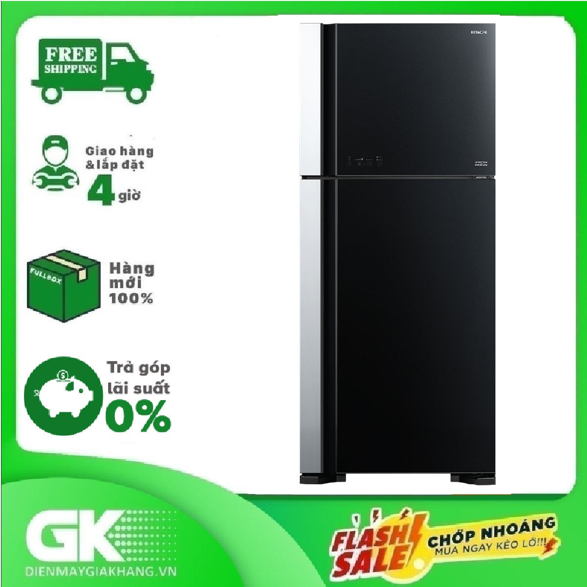 Tủ lạnh Hitachi 550 lít R-FG690PGV7X (GBK)