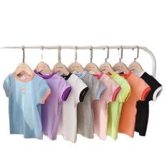 Áo thun cổ tròn dáng Basic cho bé chất liệu cotton thấm hút mồ hôi (6-18kg)