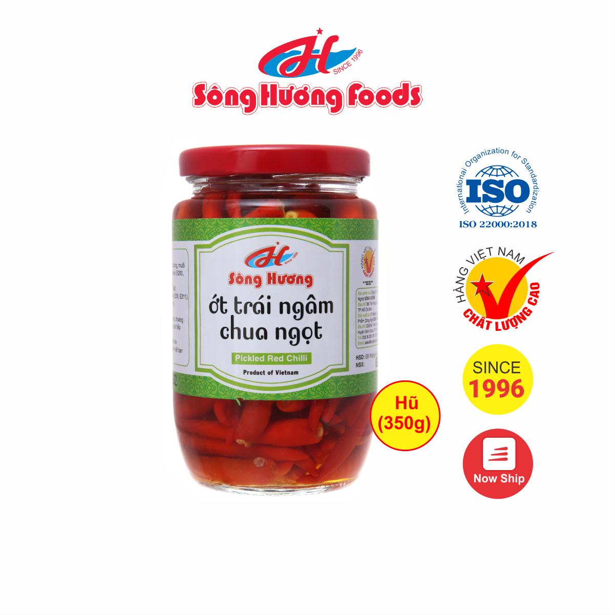 Ớt Ngâm Chua Ngọt Sông Hương Foods Hũ 350g