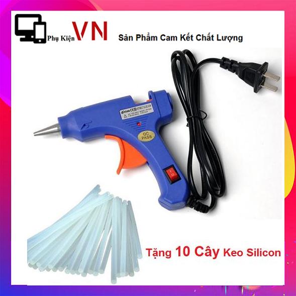 ⚡ Tặng Kèm 10 Keo Silicon ⚡ Combo 01 Súng bắn Keo 20W + 10 Keo Nến Nhỏ Dài 25cm