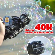 Đồ chơi đồ thổi bong bóng xà phòng cho bé siêu ngầu 8 nòng dùng pin kèm 1 khay đựng và 1 chai nước tạo bọt bong bóng cho bé 105 – Đồ khuyến mãi giá tốt