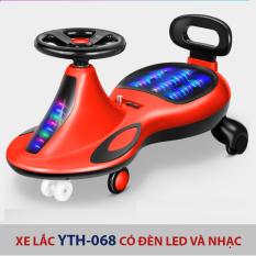 Xe lắc tay xe tập đi cho bé YTH-068 có đèn led phát sáng và nhạc vui nhộn, trọng tải lớn cho trẻ từ 1-10 tuổi
