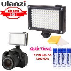 [Tiết kiệm 20%] Đèn led mini cho điện thoại, máy ảnh, máy quay phím Ulanzi FT-96 LED – Đèn trợ sáng + 4 pin sạc AA 1200mAh