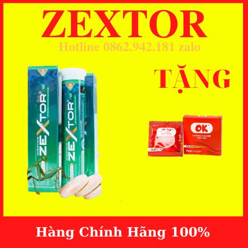 Viên sủi ZEXTOR cao cấp tăng cường sinh lý nam mạnh mẽ (hộp 20 viên)+ Tặng BCS OK – hàng chính hãng- AN001