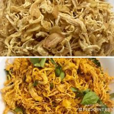 2kg Khô gà KHÔNG CAY GIÒN Lày Hòa: 1Kg Bơ tỏi và 1kg lá chanh (4 BỊCH ZIP 500g)