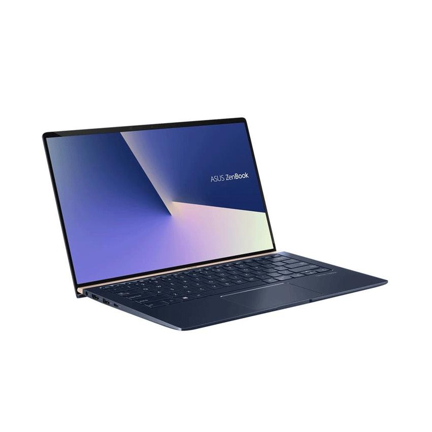 Laptop ZenBook Asus UX433FA i5 8265U/8GB/256GB/14″F/Cáp/túi/Win10/(A6061T)/Xanh