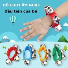 1 ĐÔI đồ chơi âm nhạc lục lạc đeo cổ tay giúp kích thích phát triển trí não và giác quan cho bé từ 0 đến 3 tuổi