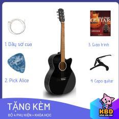 Đàn Guitar Acoustic Cao cấp cho người mới tập chơi KBD MS 2020 + pick gảy , giáo trình online hướng dẫn