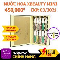 Bộ Combo Nước hoa Nam Nữ thơm lâu XBeauty XPo3 Mini 4ML + Voucher 350.000đ XBeauty. Nước hoa XBeauty Mini Unisex Thơm lâu cả ngày. Nước hoa Mini cô đặc XBeauty XPo3 dành cho Nam Nữ cô đặc thơm lâu