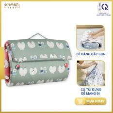 Bộ Nệm Trẻ Em Biến Hình Tiện Lợi Khang Home Baby-Bed-2Go – Chống Lún Giúp Bé Không Bị Cong Vẹo Cột Sống – Giúp Bé Ngủ Ngon Khi Đi Chơi Xa