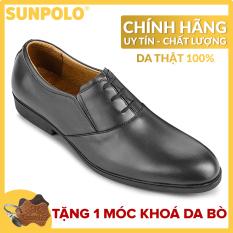 Giày Tây Nam Da Bò Công Sở SUNPOLO SUKT0528DN (Đen, Nâu)
