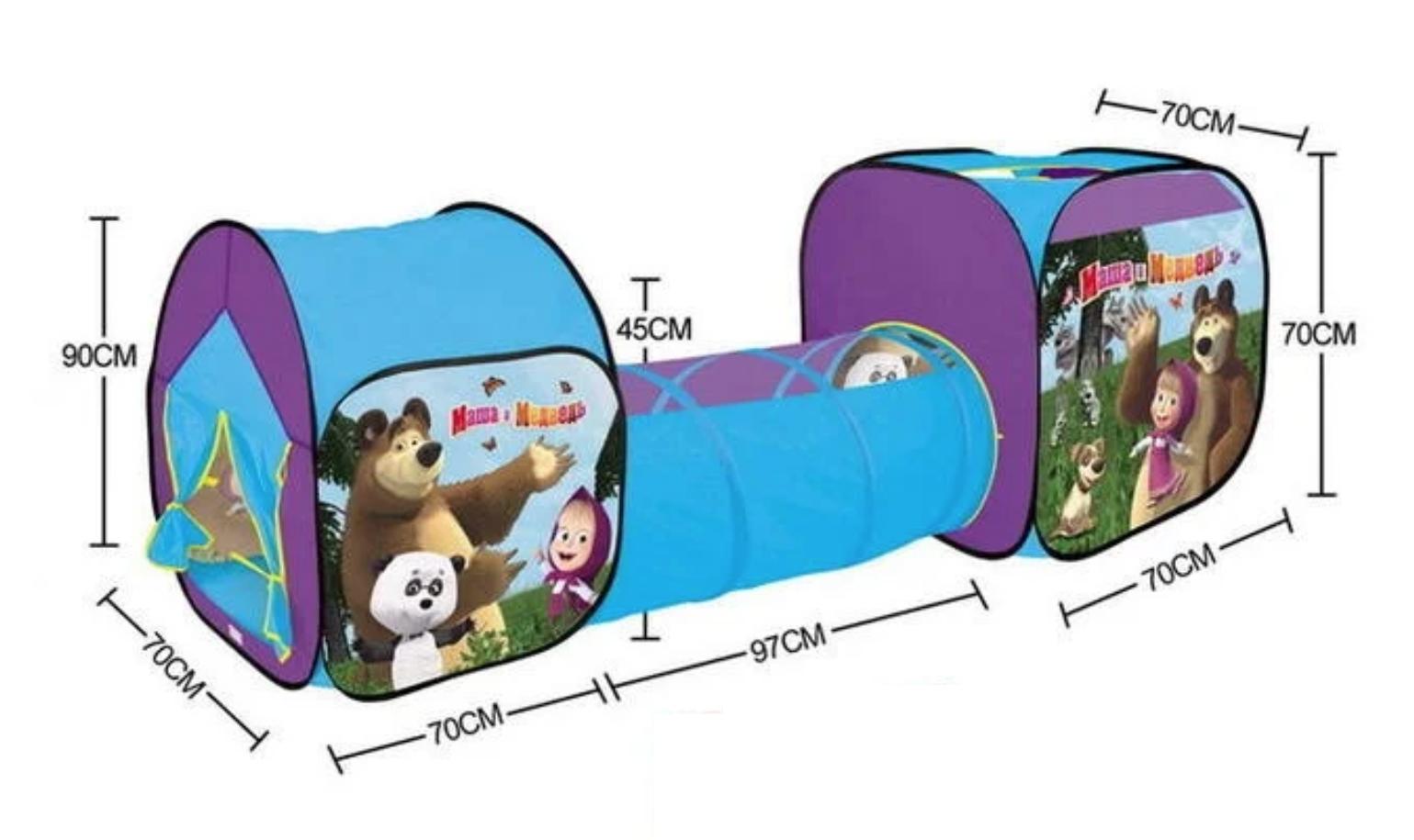 Nhà bóng chui ống 3 khoang ngôi nhà của gấu 995-7093C – nhà banh, quây bóng, do choi tre em