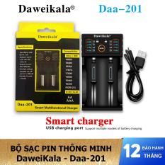Bộ sạc pin thông minh 2 cổng DaweiKala Daa-201 – Sạc pin đa năng kiêm đo pin – Hàng chính hãng