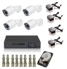 Bộ 4 Camera Analog Elitek ECC-5017 – Đầu Ghi Elitek + Ổ Cứng 250GB