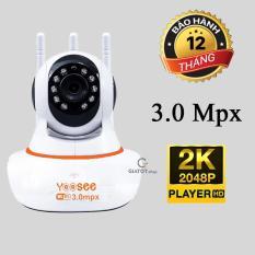 Camera wifi yoosee 3.0Mbx QUADHD 2K (2304 x 1296) ống kính 2.8mm góc nhìn siêu rộng