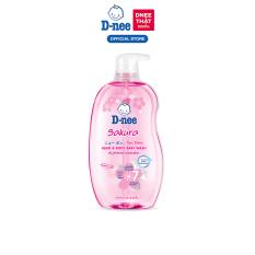 Tắm gội toàn thân em bé (<3 tuổi) D-Nee 800 ML – Sakura