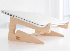 Kệ gỗ laptop gỗ thông thiết kế hiện đại cho mọi loại laptop Có Túi Rút tiện lợi