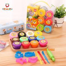 Bộ đồ chơi đất nặn Deli 12 màu, 8 dụng cụ nặn, chất liệu cao cấp an toàn với trẻ nhỏ