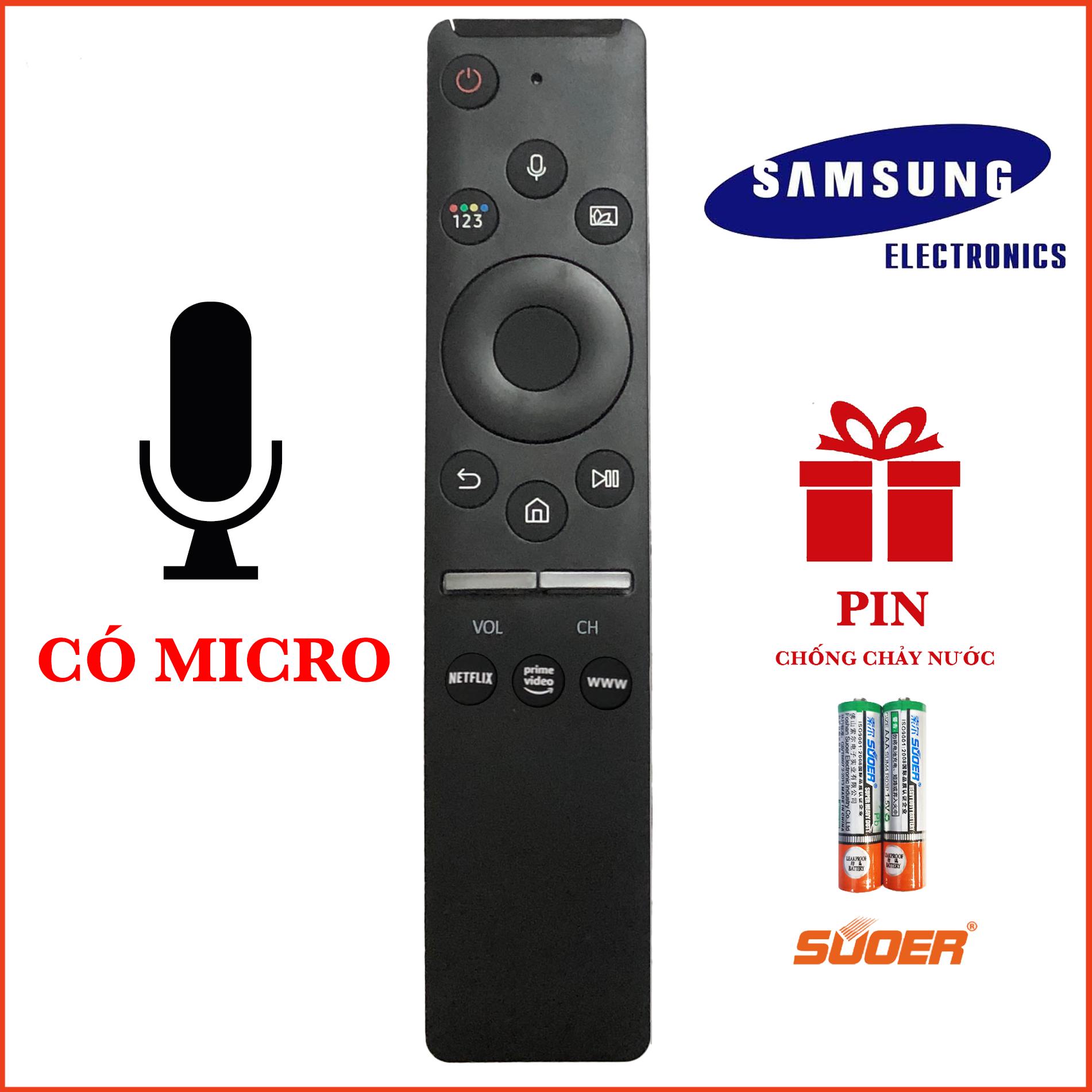 Điều khiển TV SAMSUNG SMART 4K CÓ MICRO CAO CẤP HÀNG CHÍNH HÃNG