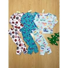 combo 3 bộ dài tay vải cotton bozip cho bé 8-18kg