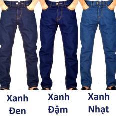 Quần jean nam ống suông chất dày