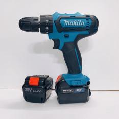 Máy khoan pin 26V Makita 3 chức năng có búa – Tặng kèm 24 chi tiết gồm các mũi khoan + Mũi bắt vít