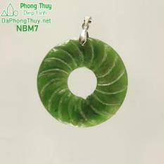Mặt ngọc bích vòng xoắn may mắn NBM7- Diệp Linh.