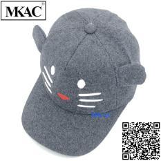 Nón kết nỉ TAI MÈO mũi trái tim nam nữ,nón lưỡi trai thời trang Tai mèo
