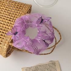 Dây cột tóc vải lưới, bươm bướm nổi loại mới.