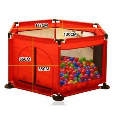 Quây bóng khung inox tặng kèm 10 bóng cho bé