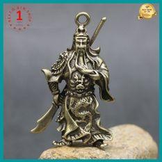 Tượng Quan công mini bằng đồng thau chế tác thủ công dùng để trang trí bàn làm việc oto đem lại may mắn tài lộc