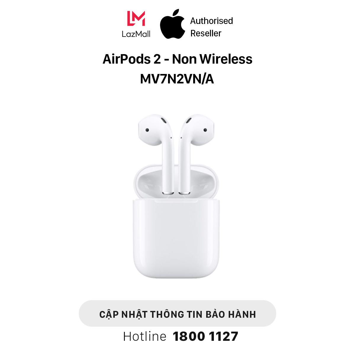 Tai Nghe Bluetooth Apple AirPods 2 (Sạc Dây) – Hàng Chính Hãng VN/A – MV7N2VN/A