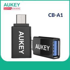 Cáp OTG Chuyển Cổng Aukey CB-A1 USB 3.0 ra USB Type-C Tốc Độ Truyền Tải 5Gbps – Hàng Phân Phối Chính Hãng
