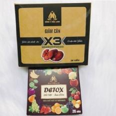 GIẢM CÂN LINH CHI X3 tặng 20 viên detox ban đêm