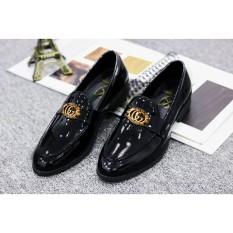 Giày Lười Nam Da Bóng, Đế Cao Su Đúc Cao 3cm – Mã G019