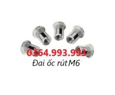 Gói 100 cái Đai ốc rút M6/Ecu rút M6/Ốc tán rút M6/Tán rút M6 mạ kẽm