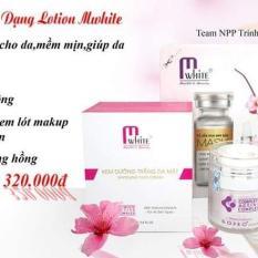 Kem Face Trắng Da Dạng Lotion Mwhite sẽ giúp làn da trắng hồng khỏe mạnh như mong muốn ( Tậng Nạ Yến Hoa Anh Đào + Son Queen Angel)