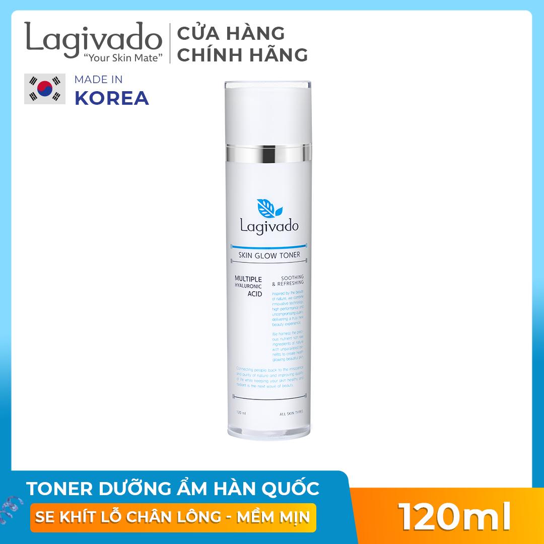 Nước Hoa Hồng cân bằng da, se khít lỗ chân lông Hàn Quốc Lagivado Skin Glow Toner 120 ml
