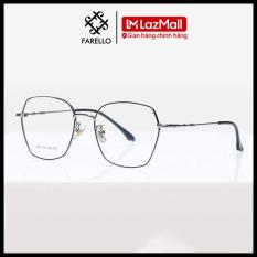 Gọng kính cận FARELLO chất liệu kim loại phụ kiện thời trang nam nữ 8899 nhiều màu