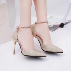 [ẢNH THẬT] Giày cao gót 8 phân bít mũi kim tuyến SD26