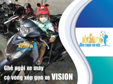 Ghế ngồi xe máy có vòng xếp gọn xe VISION