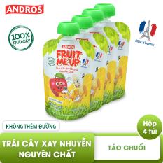 FRUIT ME UP – Trái cây xay nhuyễn nguyên chất – Táo chuối – 90g x 4