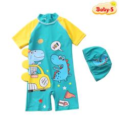 [TẶNG KÈM NÓN BƠI] Đồ bơi bé trai, đồ bơi khủng long cho bé trai 5-10 tuổi liền thân chống nắng nhiều màu sắc Baby-S– SDB016