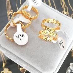 Nhẫn Vàng 18k thời trang nữ Gadoshop VN28031909 – đeo đi tiệc đi chơi làm công sở cực sang chảnh và quý phái