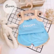 Bộ 2 Dây Chất Cotton Tàu In Họa Tiết Mắt-Snoopy Cho Bé Gái (SP001656 )