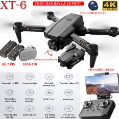 TẶNG TÚI ĐỰNG- Flycam mini XT6 4K hai camera kép ổn định hơn, thời gian bay 15 phút, chế độ nhào lộn 360° – camera điều chỉnh lên xuống 90°, WIFI 2.4g truyền hình ảnh trực tiếp về điện thoại – BẢO HÀNH 3 THÁNG