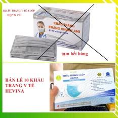 Khẩu trang y te, khẩu trang y tế 4 lớp hộp 50 cái ( có bán lẻ 10 cái) – Khẩu trang y tế kháng khuẩn – khau trang y tế kháng khuẩn ngăn ngừa virus khói bụi đạt tiêu chuẩn ISO và kiểm định bộ y tế